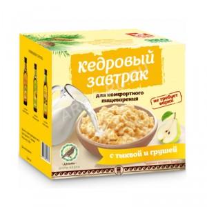 Кедровый завтрак для комфортного пищеварения с тыквой и грушей