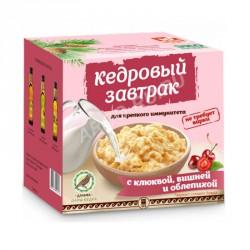 Кедровый завтрак для крепкого иммунитета с клюквой, вишней и облепихой